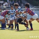関東大学ラグビーリーグ戦 法政大学戦 西野嘉修