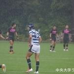 関東大学ラグビーリーグ戦 日本大学戦  長谷川新波